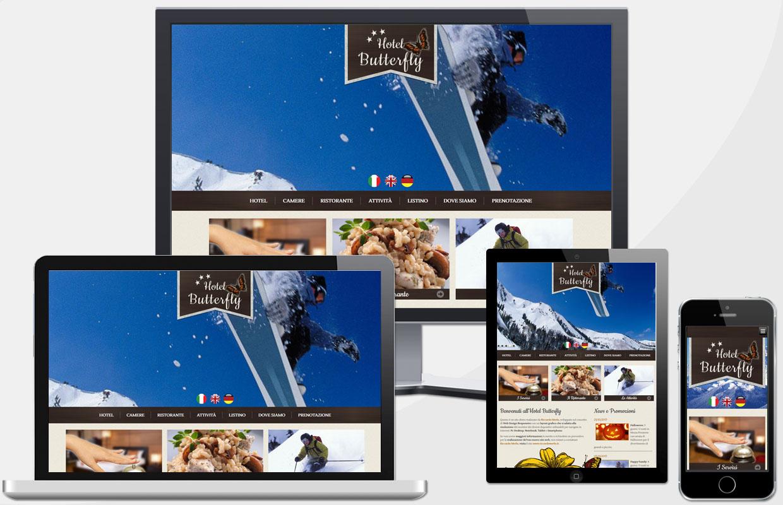 Creazione Sito Web Hotel 3 stelle in Montagna